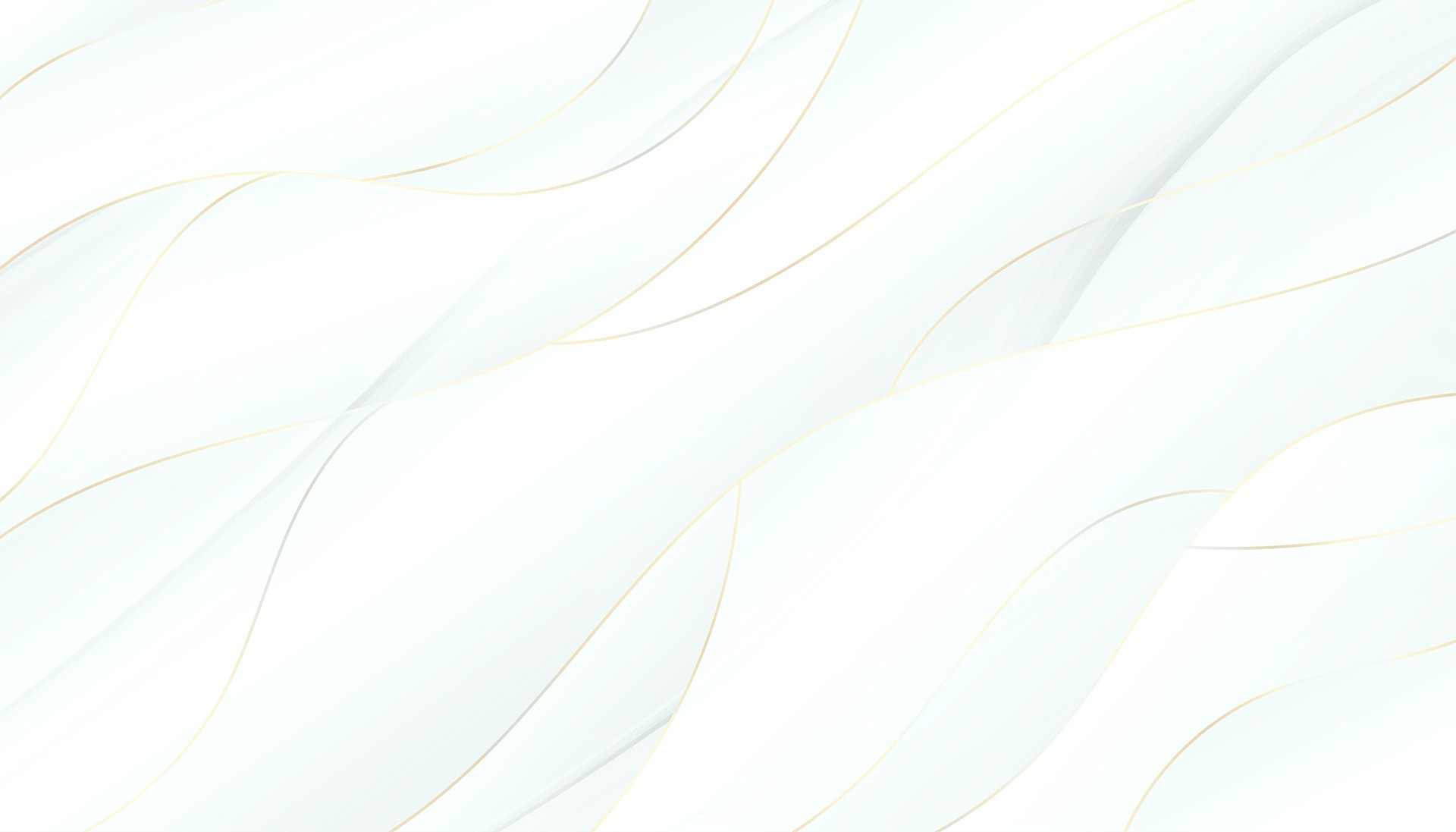 3d style flowing white and golden wavy background