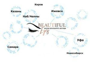Представительства школы Beautiful Eyes
